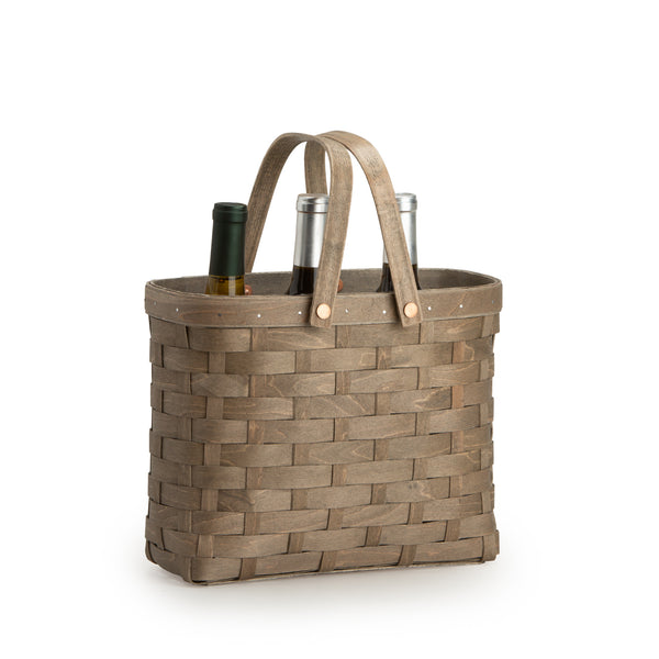 Light Grey Wine Caddy Basket