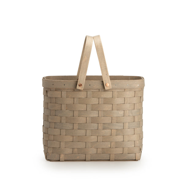 Pale Grey Wine Caddy Basket