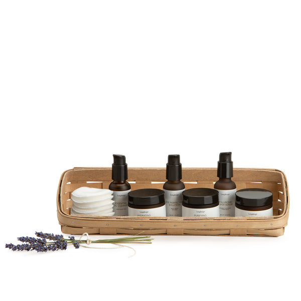 Light Brown Large Skin Care Basket Set with Free Protector