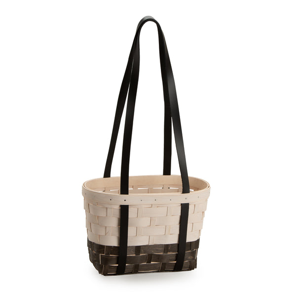 Black & White Medium Boardwalk Basket Set with Free Protector
