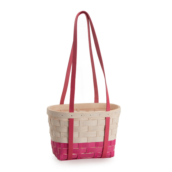 Pink & White Medium Boardwalk Basket Set with Free Protector