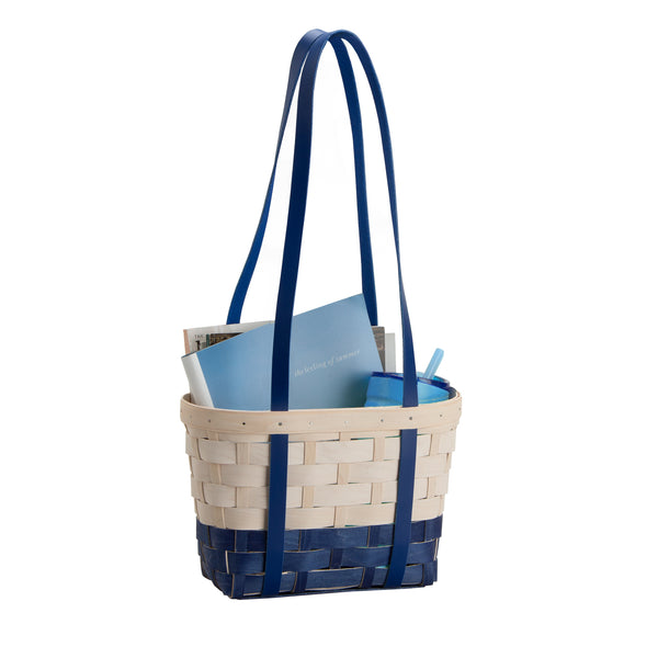 Blue & White Medium Boardwalk Basket Set with Free Protector