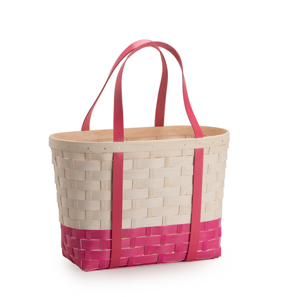 Pink & White Large Boardwalk Basket Set with Free Protector