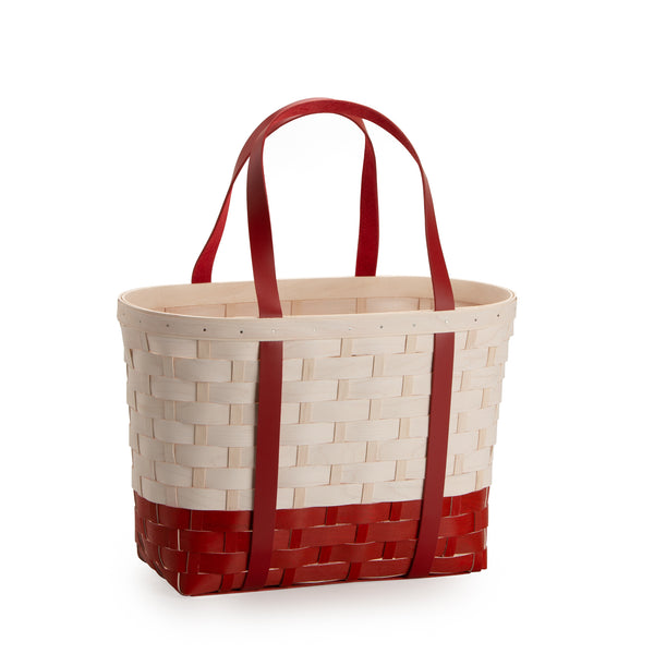 Red & White Large Boardwalk Basket Set with Free Protector