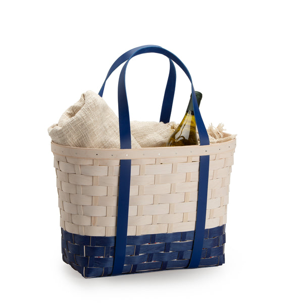 Blue & White Large Boardwalk Basket Set with Free Protector