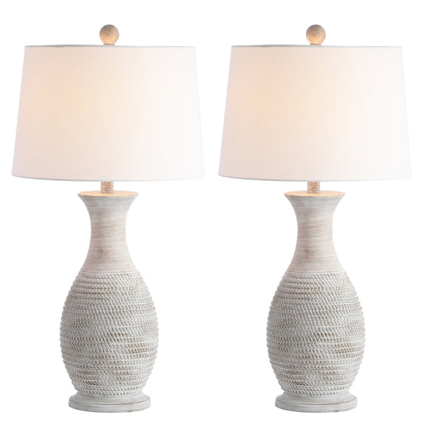 Grey Bentlee Table Lamp Set