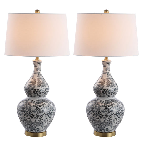 Black & White Alder Table Lamp Set