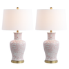 Pink & White Calli Table Lamp Set