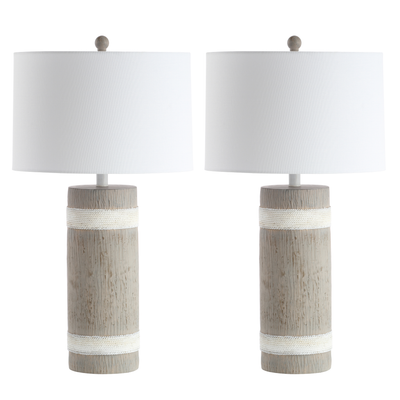 Brown & White Brixton Table Lamp Set