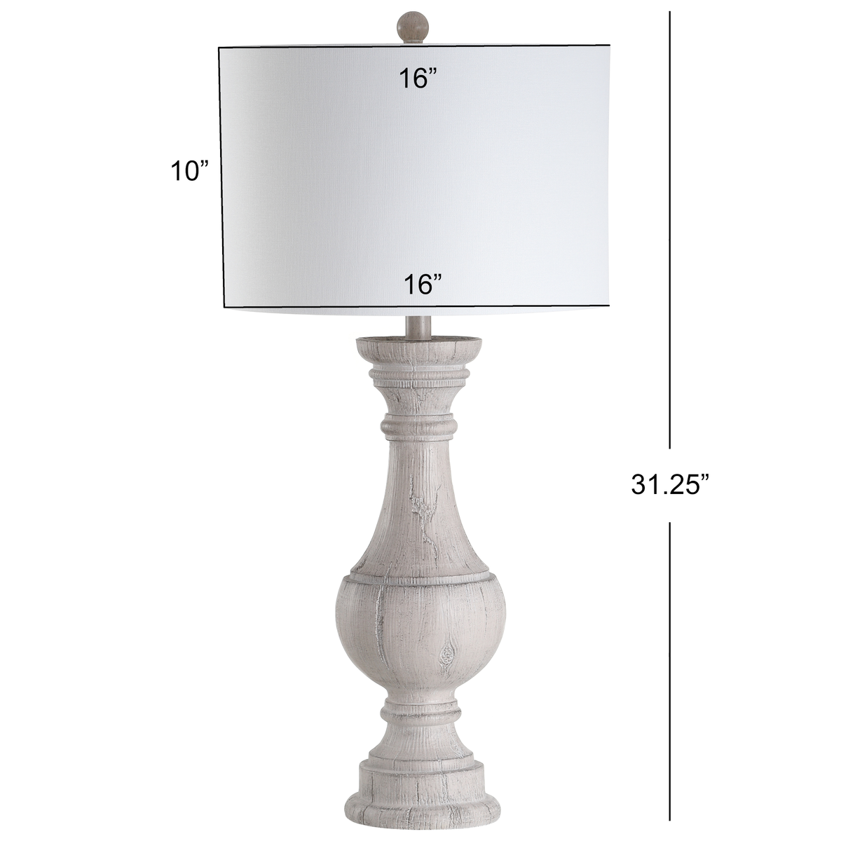 White Savion Table Lamp Set