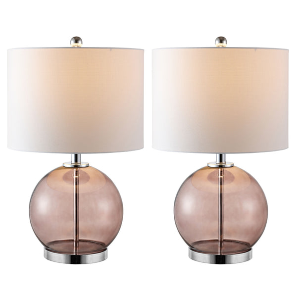 Grey Lonni Table Lamp Set