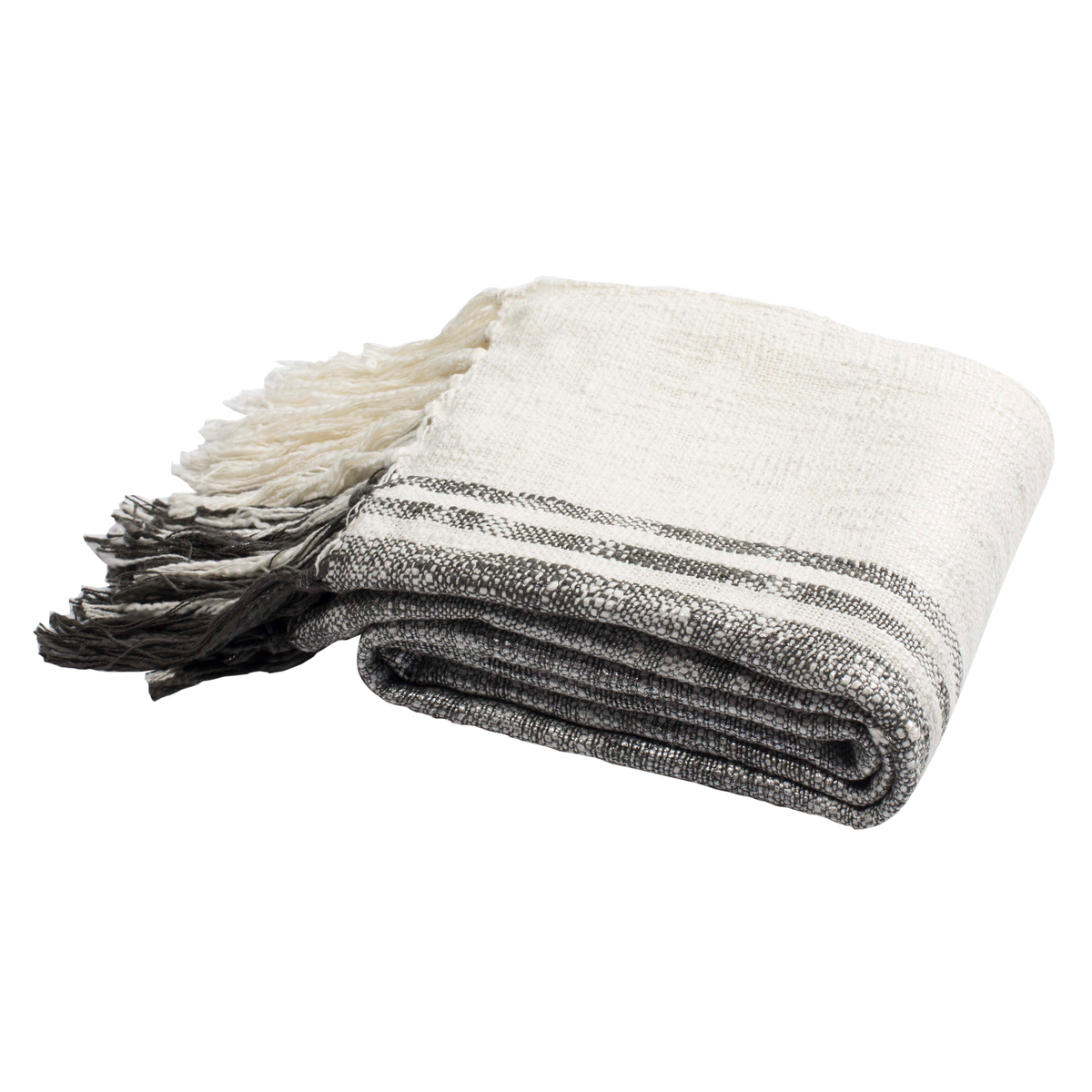 White, Grey & Silver Alita Metallic Throw