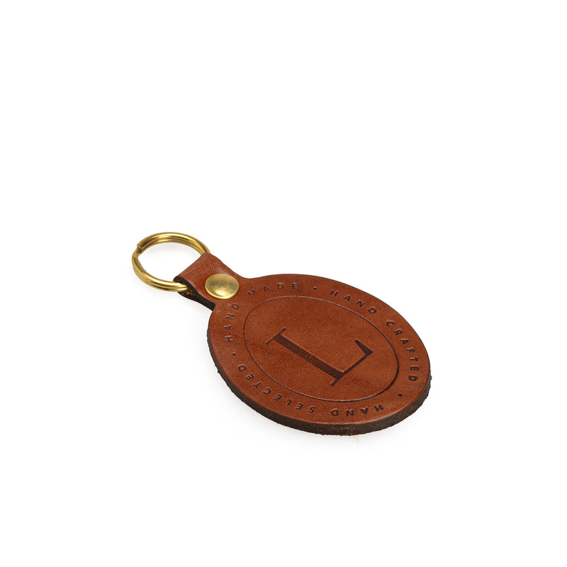 Brown Leather Key Fob