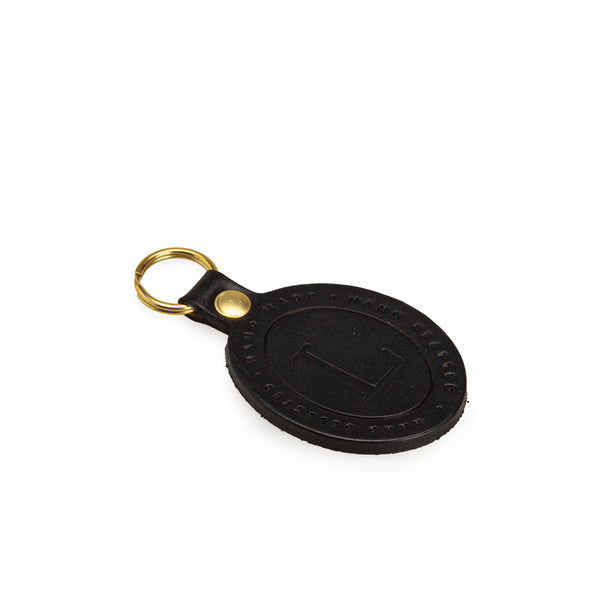 Black Leather Key Fob