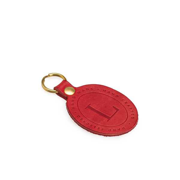 Red Leather Key Fob