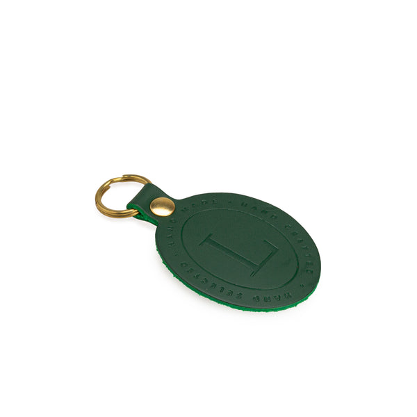Green Leather Key Fob