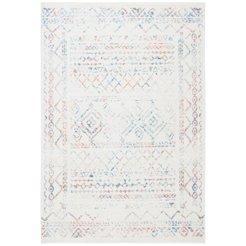 Ivory & Turquoise Small Tulum Moroccan Rug