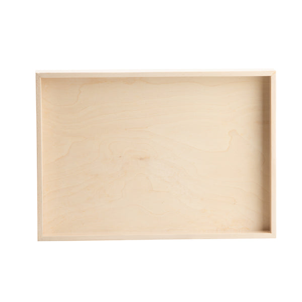White 1973 Wood Organizing Tray