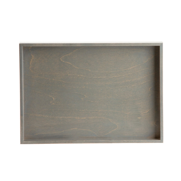 Pewter 1973 Wood Organizing Tray