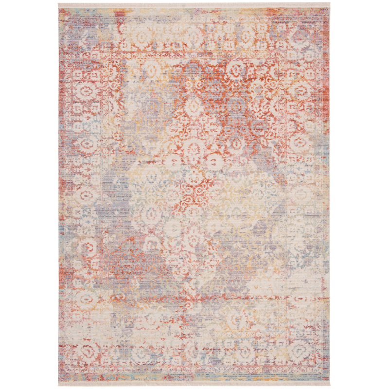 Cream & Purple Windsor Rug