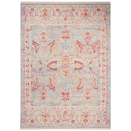 Aqua & Red Windsor Rug