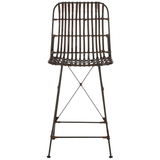 Brown & Black Minerva Wicker Counter Stool Set