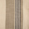 Khaki, Cream & Grey Variegated Stripe Woven Napkin Set