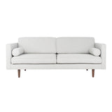 Light Grey & Brown Hurley Mid-Century Sofa