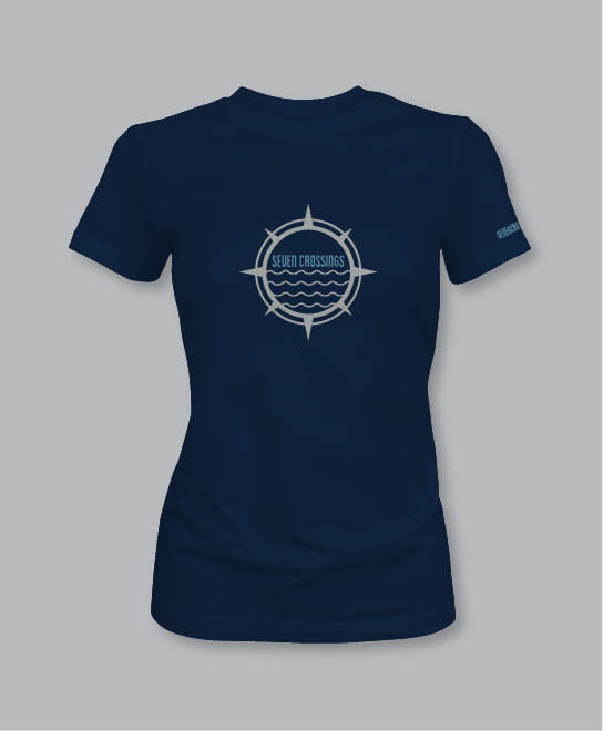 Women's 7X Crew Short Sleeve t-shirt: Navy Heather