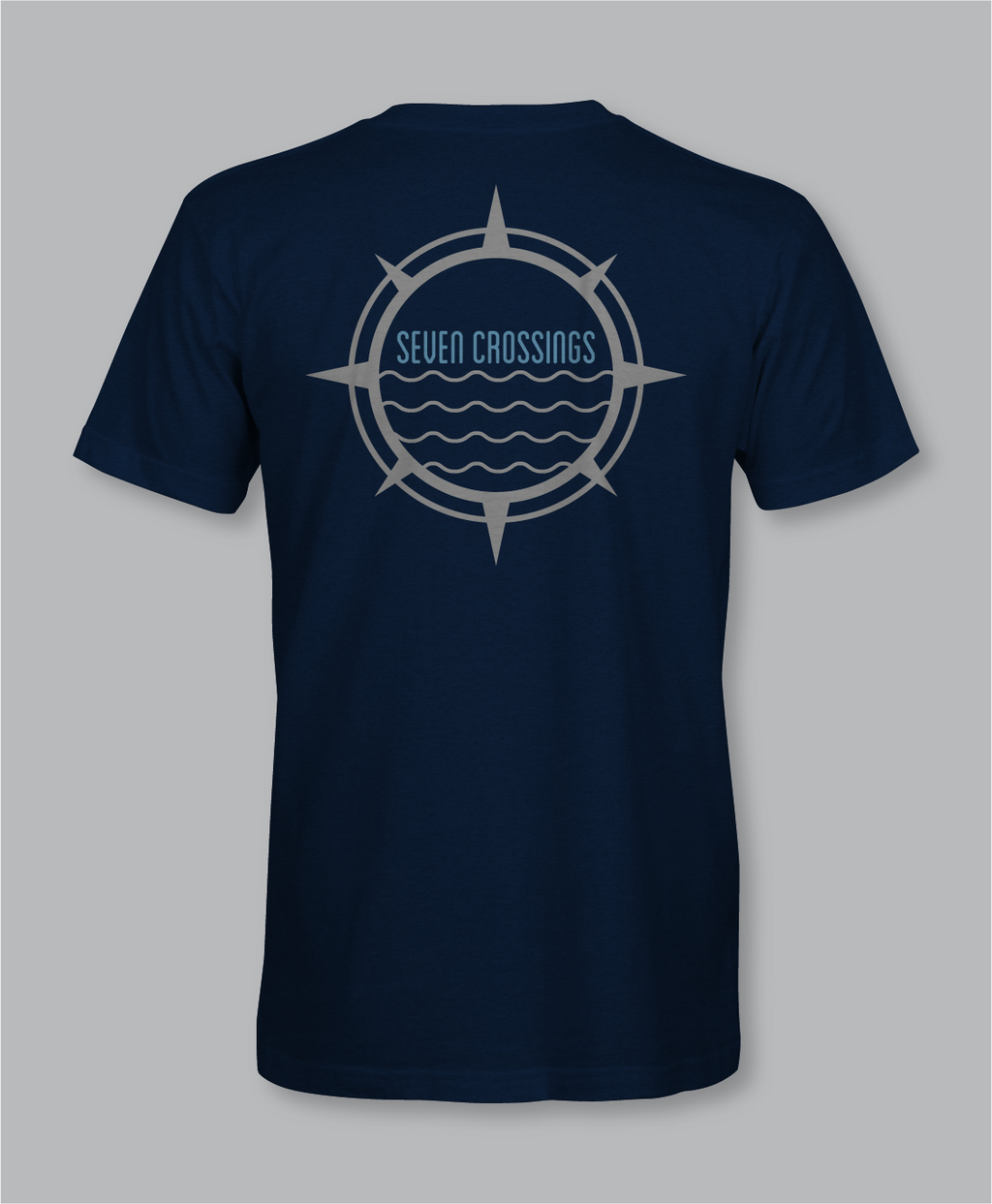 Men's 7X Eco Short Sleeve t-shirt: Navy Heather