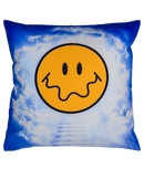 DOUBLE SIDED: CLOUDY SURREALISM SMILEY FACE CUSHION COVER