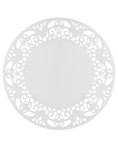 WHITE DOILY COASTERS