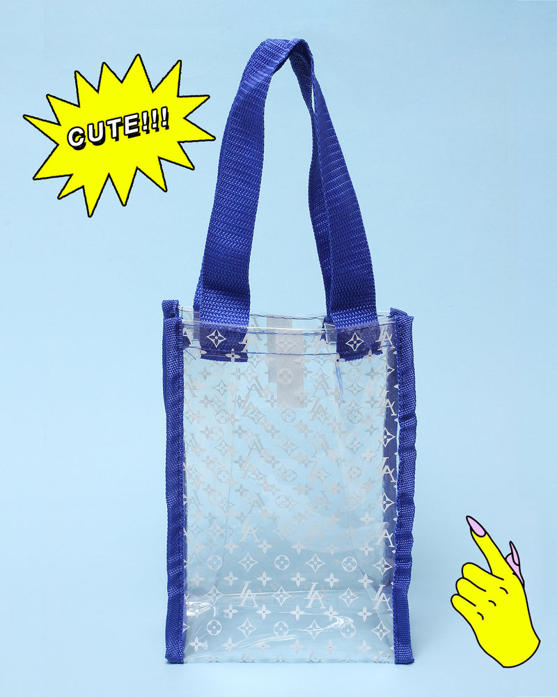 'LA' MINI PVC TOTE BAG