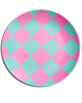 MINT + PINK CHECKERBOARD PLATE