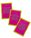"2 decks of ReFlex conversation cards. This is a conversation card game.The pink deck is ReFlex 1, and the yellow deck is ReFlex 2. The questions are made for you to ""dig deep"", get serious and really explore what you believe. And why you believe it."