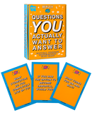 "Yellow and blue coloured ReFlex conversation card game.  The questions are made for you to ""dig deep"", get serious and really explore what you believe. And why you believe it."