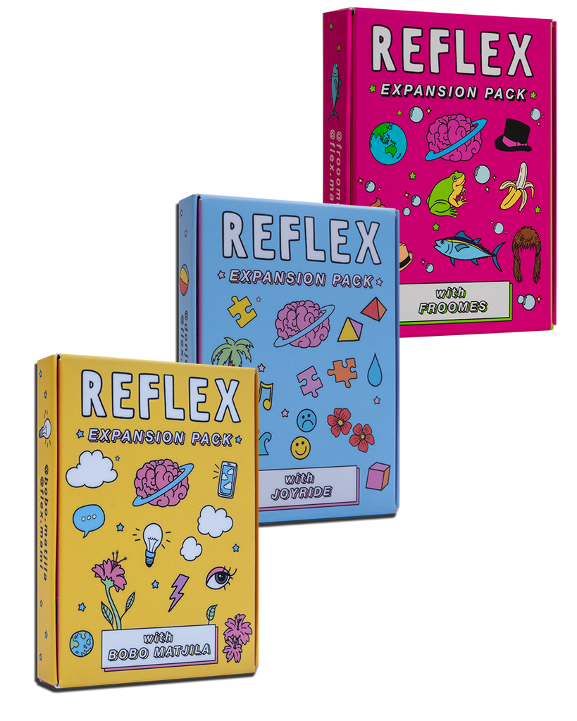 BUNDLE: REFLEX EXPANSION PACK CONVERSATION CARD GAME
