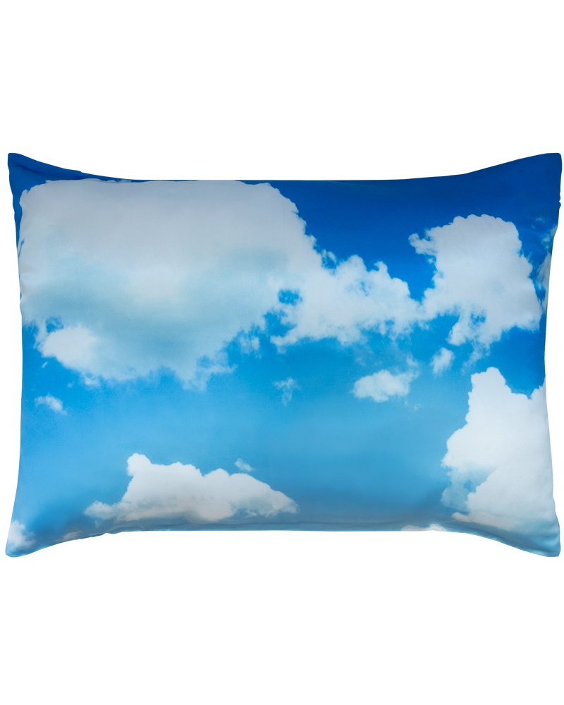 DOUBLE SIDED: WATER & SKY SATIN PILLOWCASE