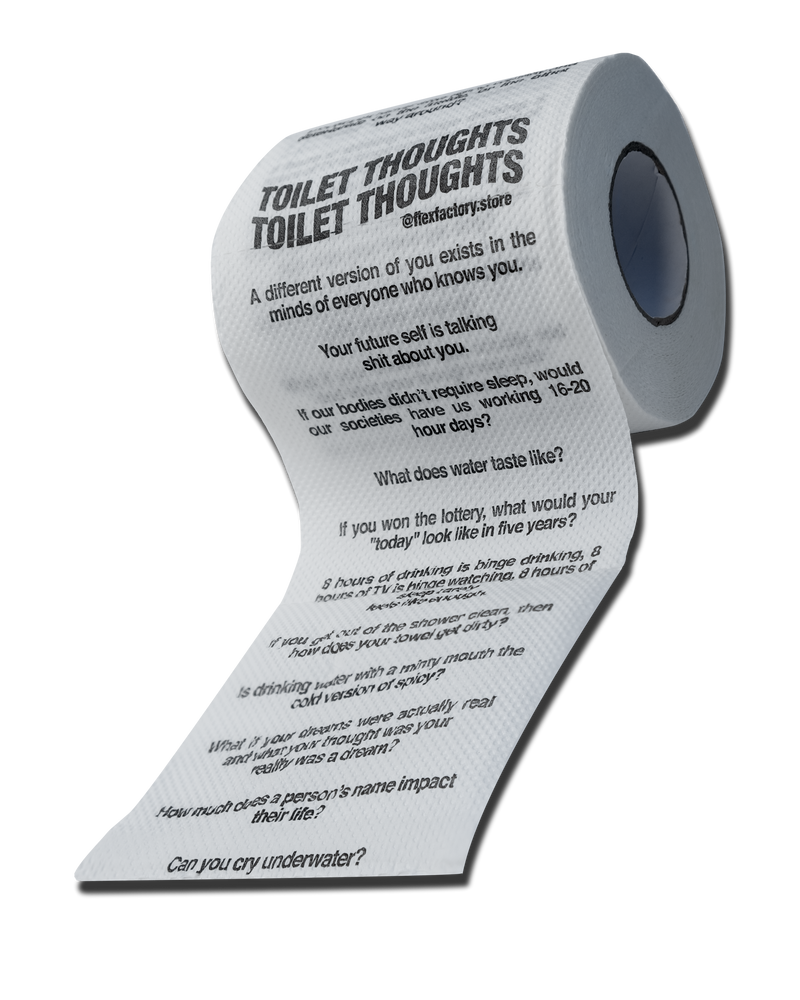 TOILET PAPER WITH QUESTIONS