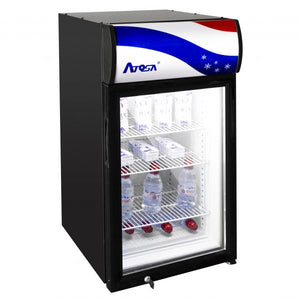 Compact Refrigerated Display with Display Panel | Square | 3 Cu.Ft | Atosa | CTD-3S