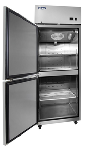Two Divided Door Freezer | Left Hinge | Top Mount | Atosa | MBF8007GRL