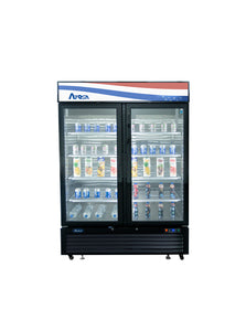 Double Glass Door Refrigerator | Bottom Mount | Atosa | MCF8723