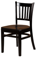 Load image into Gallery viewer, Black Verticalback Dining Chair