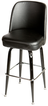 Load image into Gallery viewer, Bucket Barstool with Gloss Black Square Frame