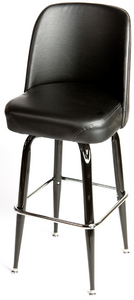Bucket Barstool with Gloss Black Square Frame