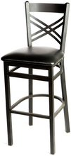 Load image into Gallery viewer, Crossback Metal Frame Barstool