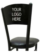 Load image into Gallery viewer, Custom Laser Cut Wood Back Swivel Black Barstool