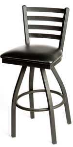 Ladderback Metal Swivel Series Barstool