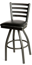 Load image into Gallery viewer, Ladderback Metal Swivel Series Barstool