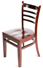 Load image into Gallery viewer, Mahogany Ladderback Dining Chair